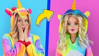6 Clever Barbie Hacks And LOL Surprise Hacks / Troom Troom Characters As Dolls