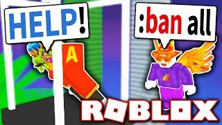 BANNING PLAYERS WITH ADMIN COMMANDS?! *CRAZY!* (Roblox)