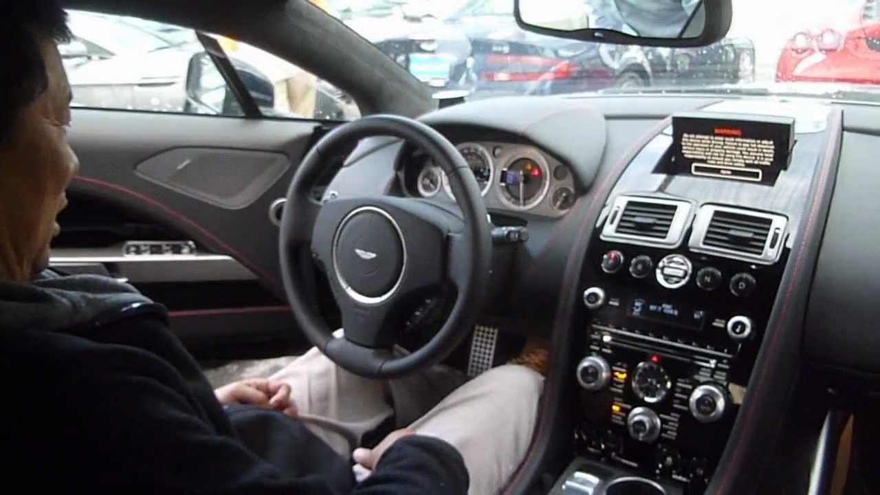2012 Aston Martin Rapide engine start & interior - YouTube