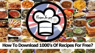 Recipes: How To Download 1000