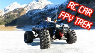 RC CAR FPV - TREK TRAXXAS X-MAXX - 3 CAM ONBOARD -FRENCH ALPS