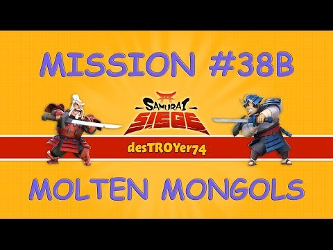 Samurai Siege Mission #38b Molten Mongols (reward: 150 Diamonds) video
