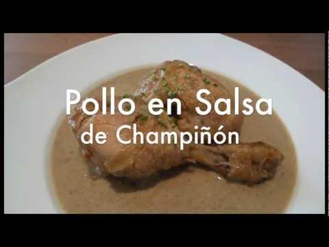 Pollo en salsa de champiñones - Recetas de cocina fácil