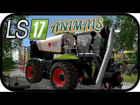 LS17 ANIMALS - Der Xerion 4000 mit dem SGT funzt nicht #157 - LS17 NORDFRIESISCHER MARSCH 4 FACH