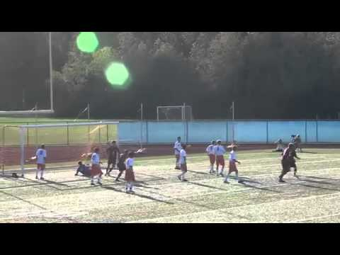 Disabled person shoots an amazing goal