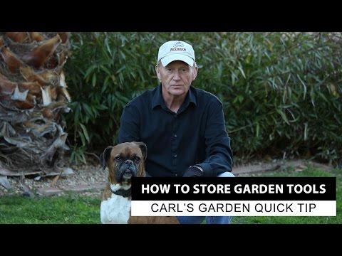 How To Store Gardening Tools   Carl's Garden Quick Tip
