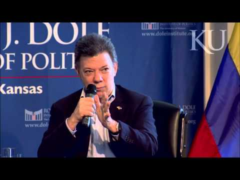 A Conversation with President Juan Manuel Santos at KU