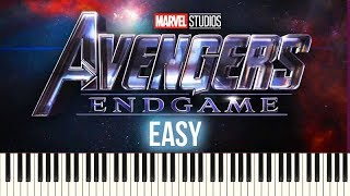 How To Play: Avengers - Endgame (Official Trailer 2 Music) | Piano Tutorial EASY + Sheets