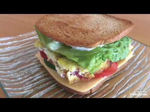 Tuxum va kolbasali buterbrod/Бутерброд
