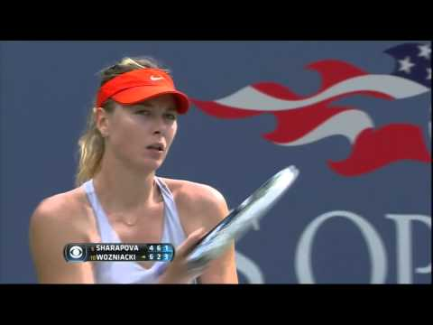 Epic Point Won By Caroline Wozniacki vs Maria Sharapova 2014 US Open