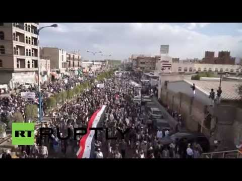 Yemen: See Thousands Of Angry Shia March Against 'corrupt' Govt video