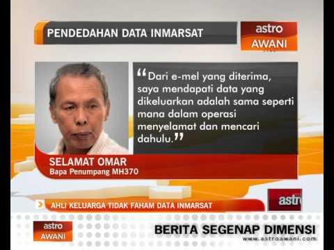 Ahli keluarga tidak faham data Inmarsat