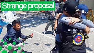 Boyfriend Stages 'Motorbike Crash' for Bizarre Wedding Proposal