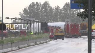 Italy: Plane crashes into road after skidding off runway at Bergamo airport