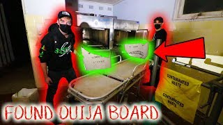 FOUND OUIJA BOARD at HAUNTED ELDERLY HOSPITAL (scary)
