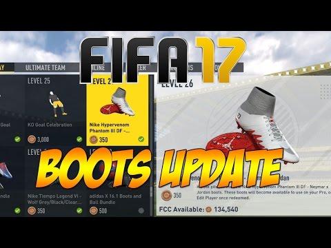 FIFA 17 -  New Boots update! Neymar X Jordan Boots