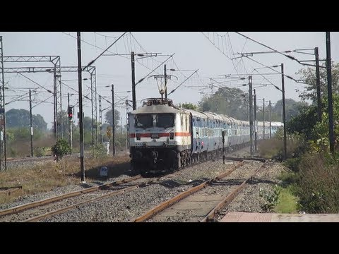 White Monster Wap-7 Curves In At 110kmph Hauling Dakshin Express! video