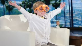 Ellen Meets a 6-Year-Old Science Podcaster
