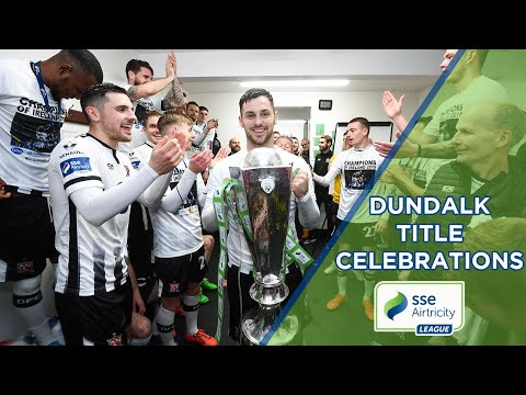DRESSING ROOM SCENES | Dundalk title celebrations