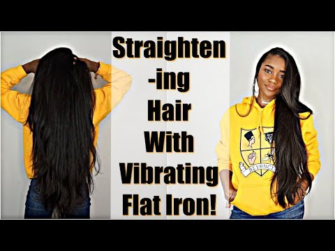 Does It Work? Straightening Natural Hair with Vibrating Flat Iron: Bio Ionic 10X MP3