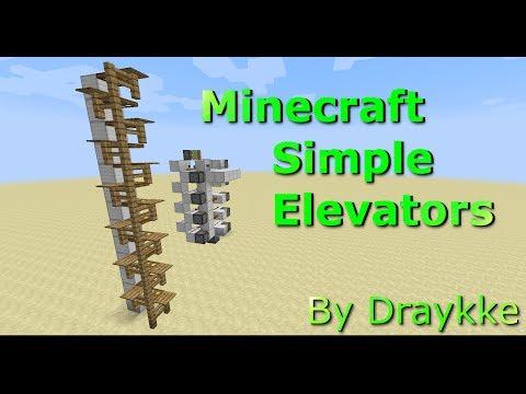 Minecraft 1.7.9+ Simple Elevators Tutorial [Efficient/Compact/Resource Light]
