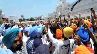 Golden Temple - violence and clashes in Amritsar, with chants of Khalistan Zindabad