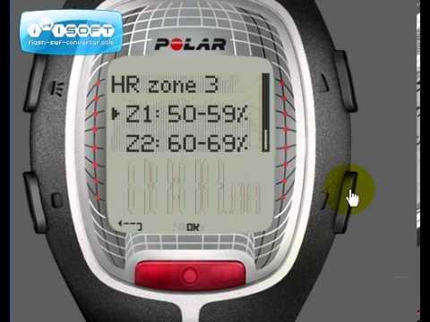 Reloj Deportivo Polar RS300X Ajustes - Intervalo y Añadir un Nuevo Ejercicio