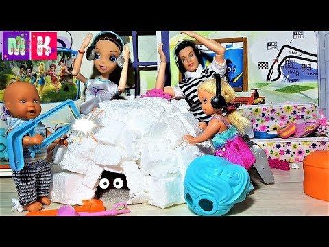 МАКС ХЕЛЛУИН И ПИНГВИН КАТЯ И МАКС ВЕСЕЛАЯ СЕМЕЙКА. #Мультик про кукол #Барби #куклы
