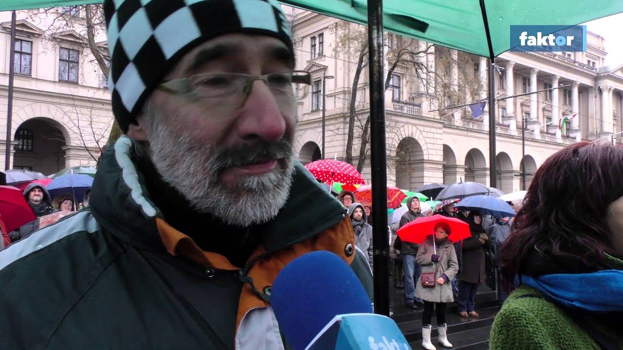 Így tüntettek a Kossuth téren - videó!