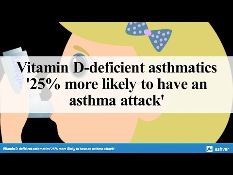 Vitamin D deficient asthmatics '25% more likely to have an asthma attack'