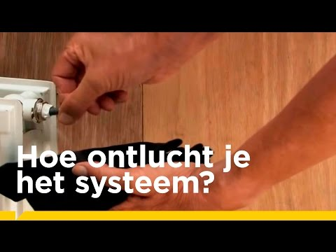 Remeha visuele instructies  'Verwarmingssysteem ontluchten'