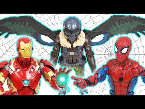 Spider-Man Homecoming! Defeat the villain Vulture with Iron Man! - DuDuPopTOY