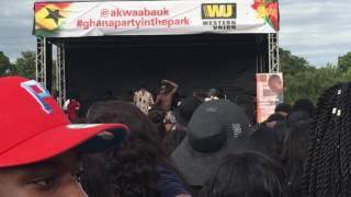 Mr Eazi at Ghana party in the park 2016