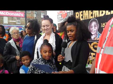 """RIP DADDY"" JUSTICE FOR MARK DUGGAN vigil 2015"