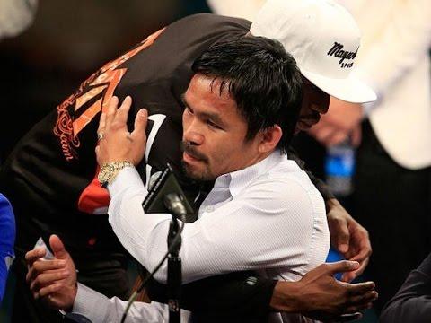 Reaccion de Floyd Mayweather Jr. y Manny Pacquiao despues de la pelea del siglo.