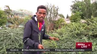 Eritrean marathon star tours Beijing City