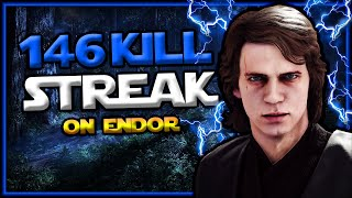Star Wars Battlefront 2 Anakin Skywalker 146 Killstreak (Endor)
