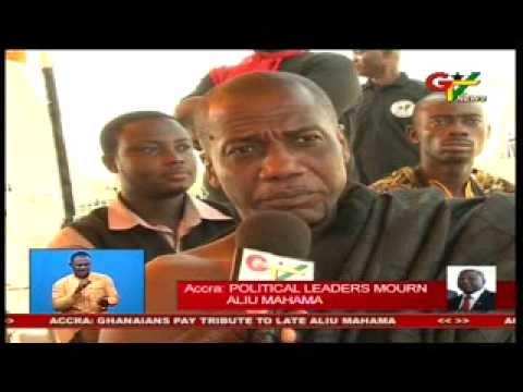 Political leaders Mourn Aliu Mahama