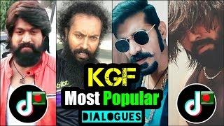 KGF Most Popular Dialogues Tik Tok | Yash | Rocky Bhai | Musical.ly | TikTok Entertainment