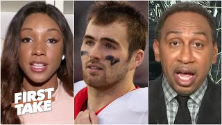 Stephen A. and Maria Taylor react to Jake Fromm's apology for 'elite white people' text | First Take