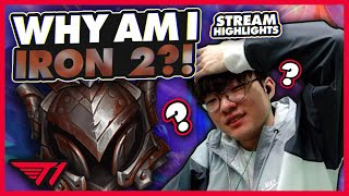 Faker Gets Placed in IRON 2? | T1 League of Legends Stream Highlights