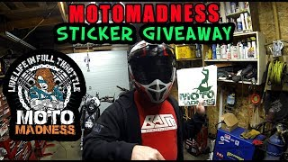 Moto Madness Sticker Giveaway Time!