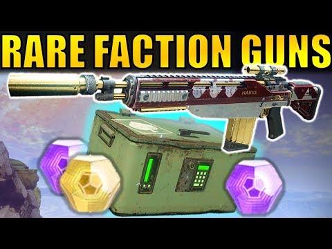 Destiny 2: Get VERY RARE FACTION WEAPONS!