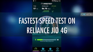 100Mbps on 4G in India ! Reliance Jio 4G Fastest Speed Test