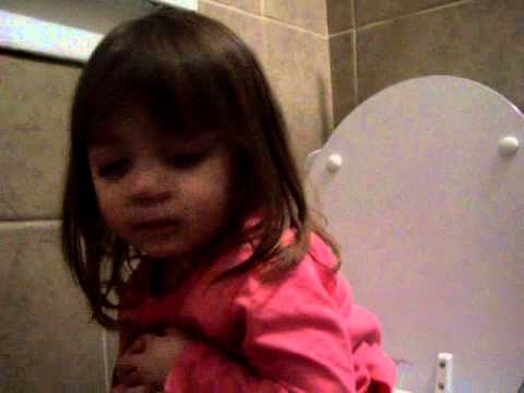 Falling Asleep On The Toilet. Funny Babies