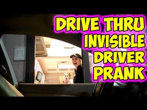 Content Worth Sharing: Drive Thru Invisible Driver Prank