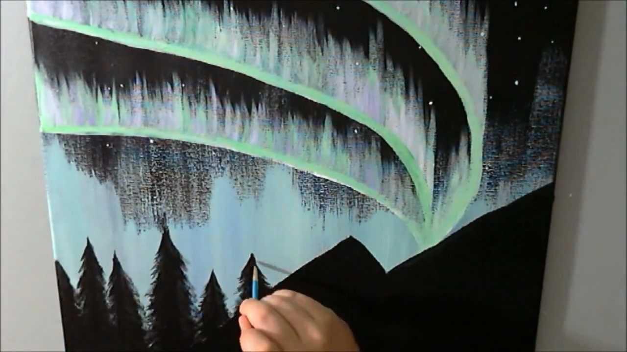 Alaska Northern Lights Speed Painting Time Lapse - YouTubeAcrylic Paintings Sunset