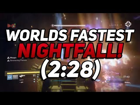 Destiny - Worlds Fastest Nightfall In 2:28! The Wretched Eye Strike Speedrun WR By Route