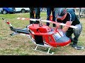 AMAZING HUGE RC BELL-212 ELECTRIC SCALE MODEL HELICOPTER FLIGHT DEMONSTRATION