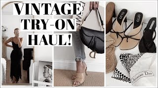 Huge Back to School Vintage Try-on Haul! End of Summer Styles!